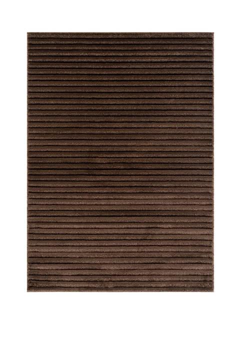 Mystique Baird Brown Oversize Rug 7 ft 10 in x 10 ft 6 in