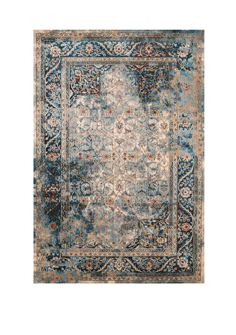 2 ft 7 in x 4 ft 2 in Jules Camelot Cerulean Mat Rug