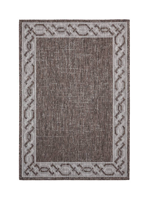 7 ft 10 in x 10 ft 6 in Augusta Whitehaven Brown Oversize Rug