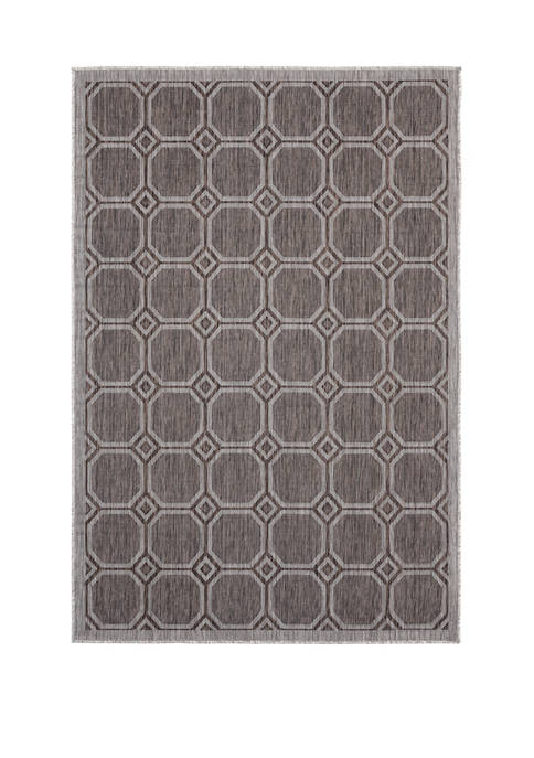 7 ft 10 in x 10 ft 6 in Augusta Balos Brown Oversize Rug