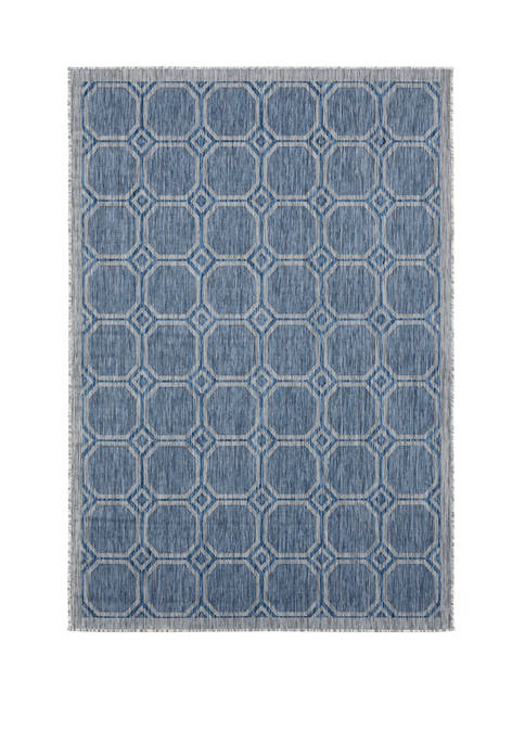 7 ft 10 in x 10 ft 6 in Augusta Balos Blue Oversize Rug