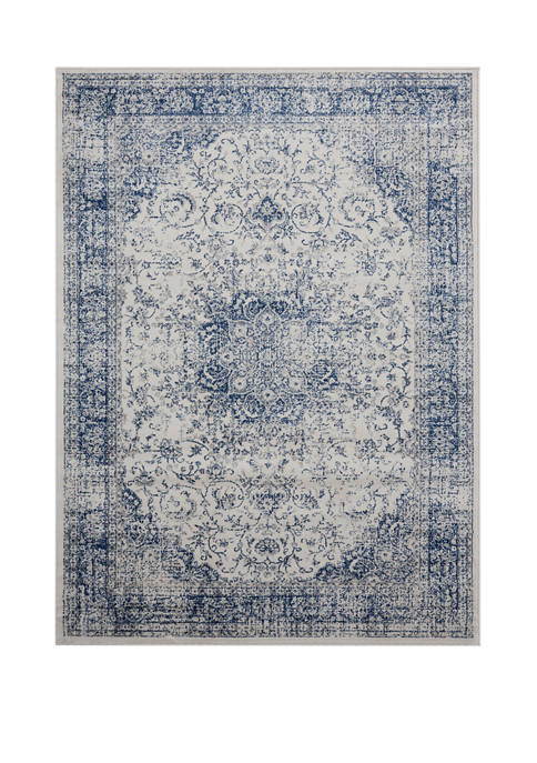 1 ft 10 in x 3 ft Clairmont Larnaca Denim Blue Accent Rug