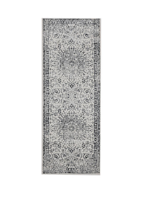 2 ft 7 in x 7 ft 2 in Clairmont Latakia Onyx Runner Rug