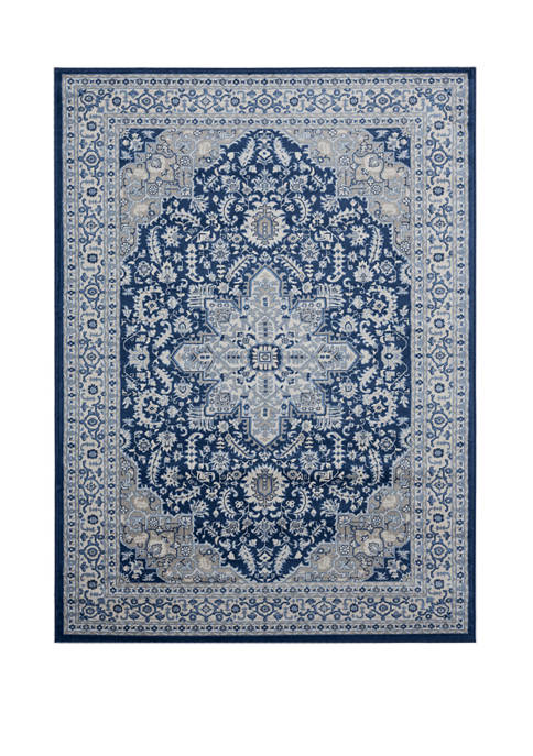 7 ft 10 in x 10 ft 6 in Clairmont Bari Denim Blue Oversize Rug