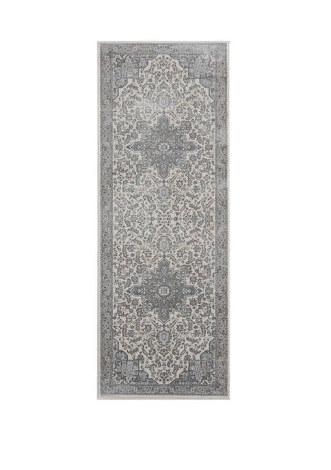2 ft 7 in x 7 ft 2 in Clairmont Zadar Gray Runner Rug