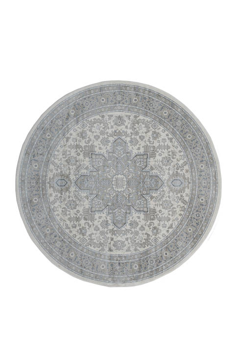 7 ft 10 in x 7 ft 10 in Clairmont Zadar Gray Round Rug