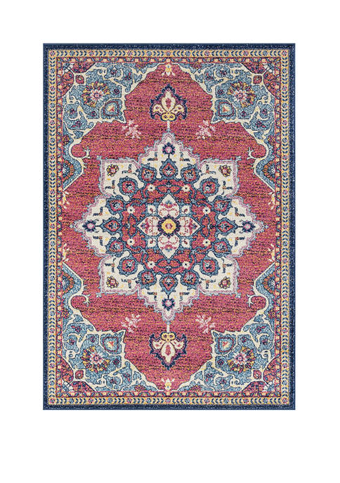 5 ft 3 in x 7 ft 2 in Abigail Valentina Midnight Blue Area Rug