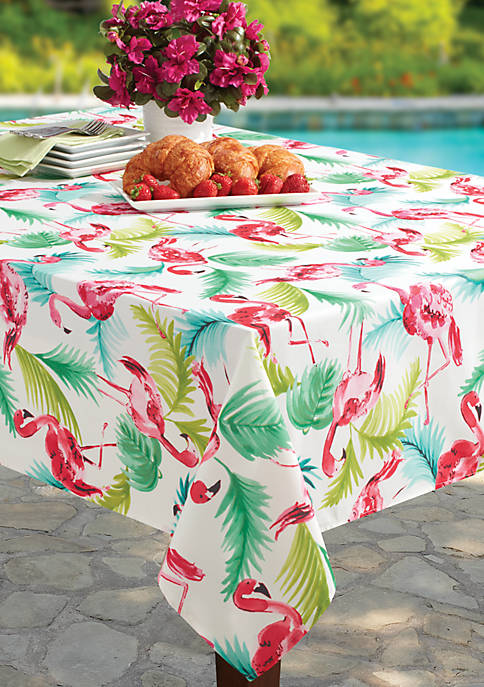 Benson Mills Flamingo Spill Proof Tablecloth