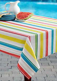 Kitchen Stripe Spill Proof Tablecloth