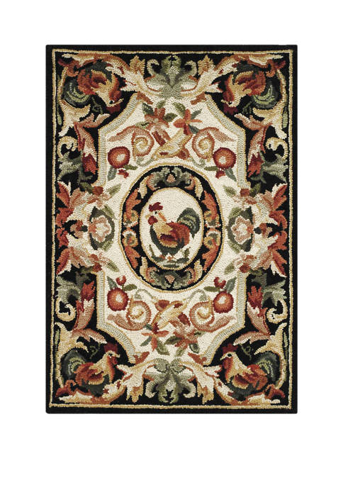 Chelsea Classical Rooster Area Rug Collection