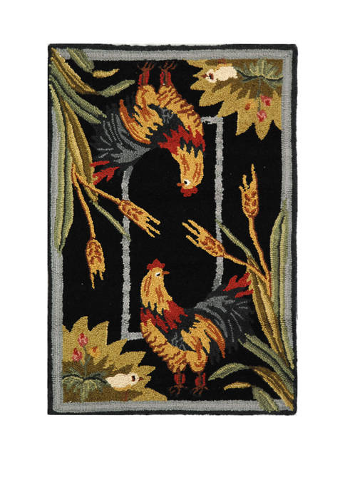 Chelsea Traditional Rooster Area Rug Collection