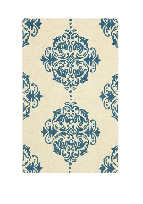 Chelsea Damask Area Rug Collection