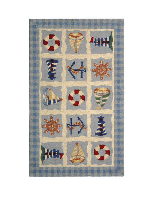 Chelsea Nautical Themed Area Rug Collection