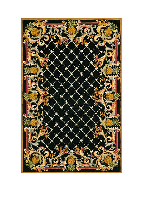 Chelsea Elegant Pineapple Border Area Rug Collection