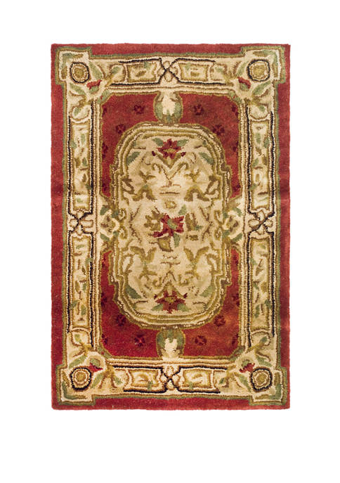 Classic Flanagan Floral Bordered Area Rug Collection