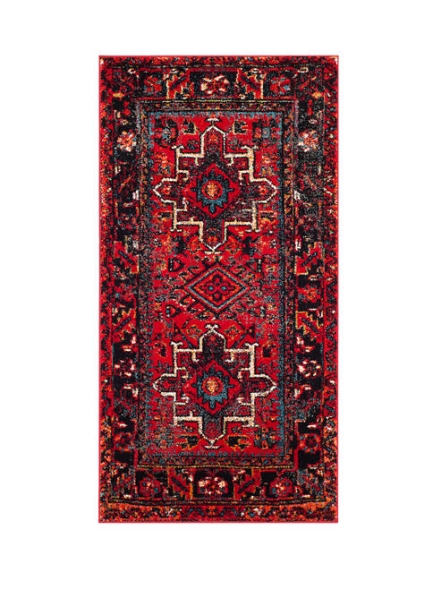 Vintage Hamadan Red Persian Styled Area Rug Collection