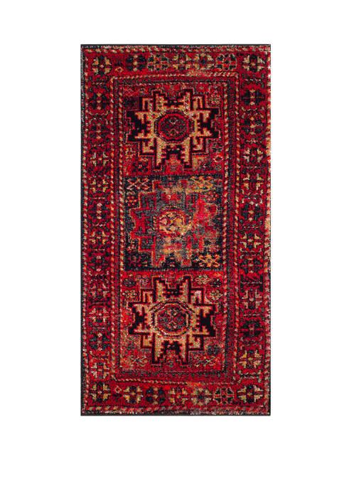 Safavieh Vintage Hamadan Antiqued Oriental Red and Multi