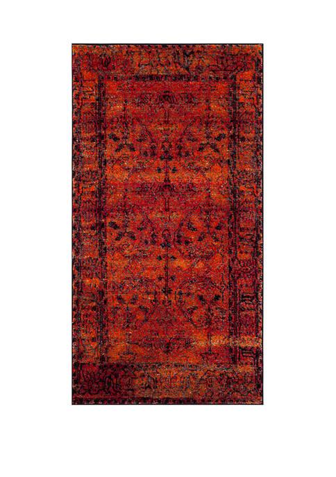 Vintage Hamadan Sarouk Orange Rectangular Area Rug Collection