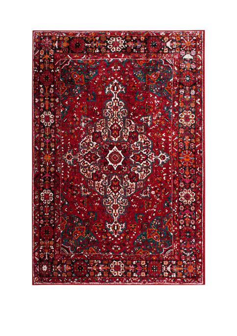 Vintage Hamadan Malayer Red Multi Rectangular Area Rug Collection