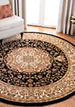 Lyndhurst Oriental Medallion Black/Ivory Area Rug Collection
