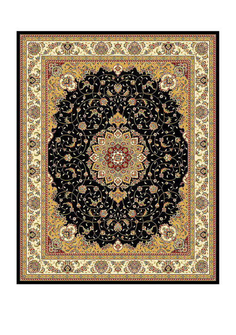 Safavieh Lyndhurst Black/Ivory Kazvin Area Rug Collection