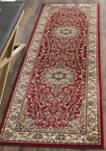 Lyndhurst Black/Ivory Kazvin Area Rug Collection