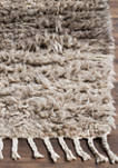 Kenya Ivory/Grey Wool with Tassels Area Rug Collection