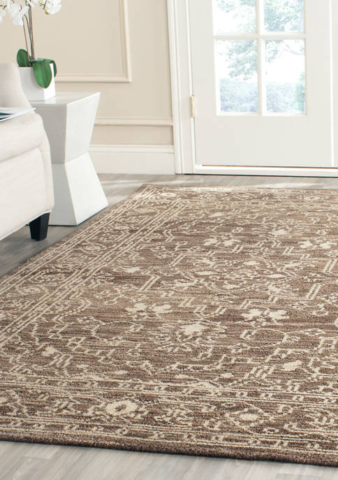 Kenya Bold Handmade Brown and Beige Premium Wool Area Rug Collection