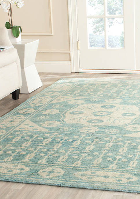 Kenya Handmade Blue Premium Wool  Area Rug Collection