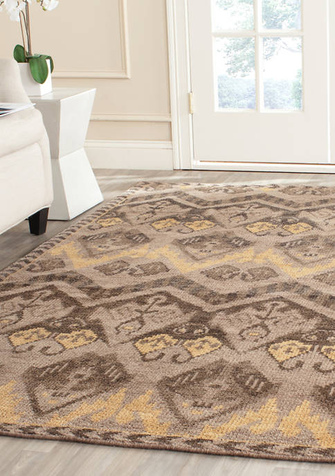 Kenya Handmade Gold and Beige Premium Wool Area Rug Collection
