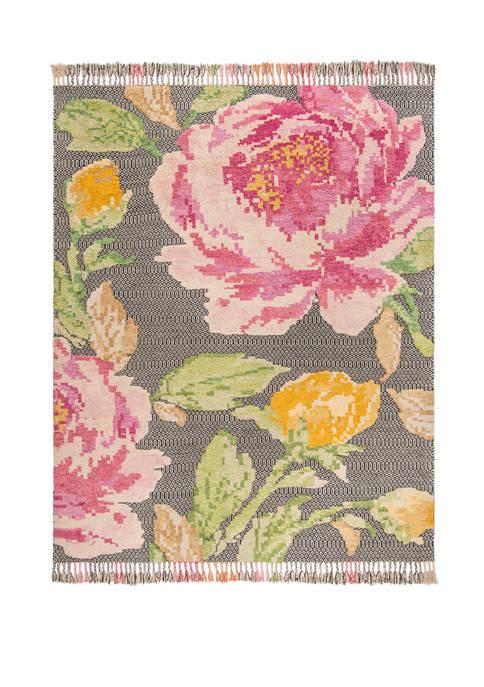 Kenya Pink/Dark Gray Premium Area Rug Collection