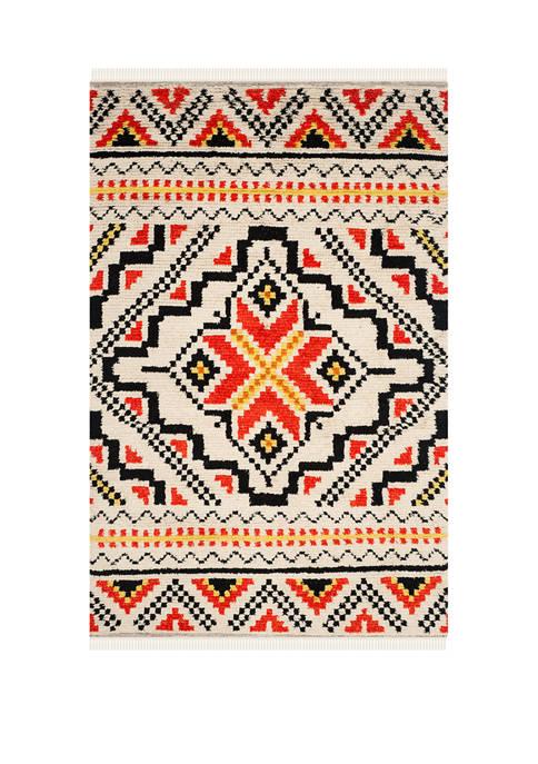 Kenya Pop Of Color Symmetrical Area Rug Collection