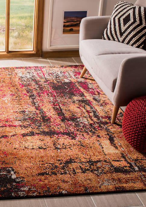 Monaco Abstract Multicolored Distressed Area Rug Collection