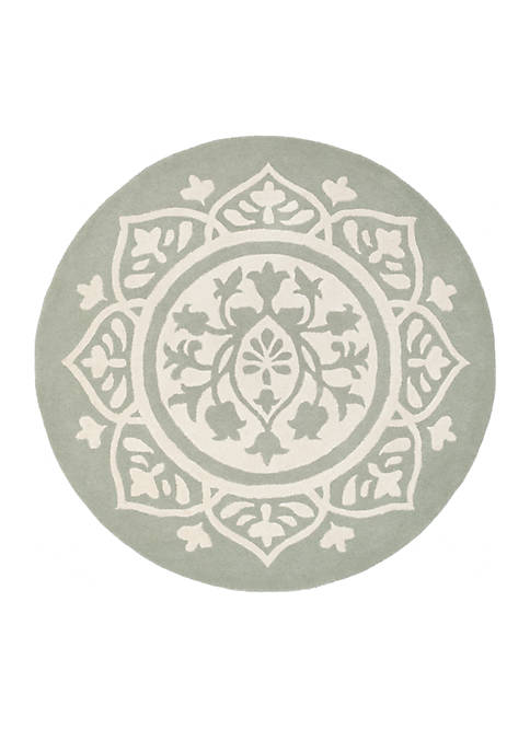 Bella Gray/Ivory 5-ft. x 5-ft. Area Rug