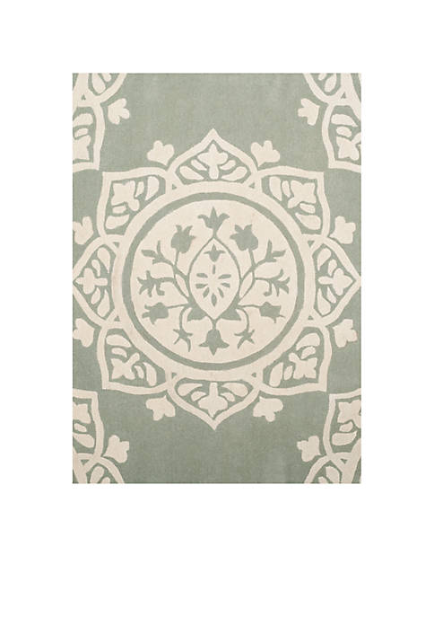 Bella Gray/Ivory 5-ft. x 5-ft Area Rug