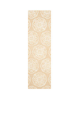 Bella Beige/White Area Rug  2-ft. 3-in. x 8-ft.
