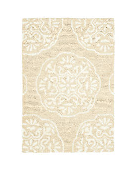Bella Beige/White Area Rug 2-ft. x 3-ft.