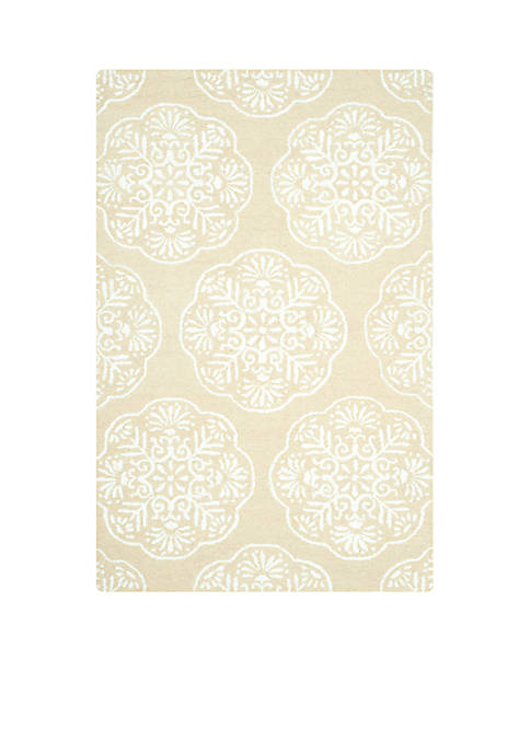 Bella Beige/White Area Rug 3-ft. x 5-ft.