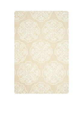 Bella Beige/White Area Rug 4-ft. x 6-ft.