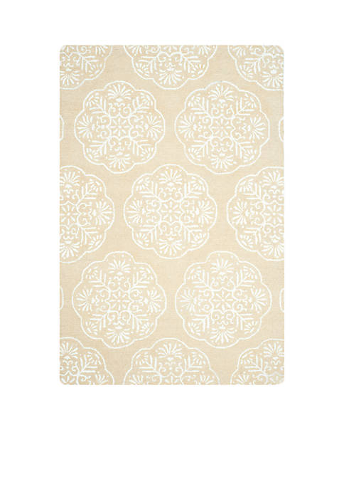 Safavieh Bella Beige/White Area Rug 4-ft. x 6-ft.