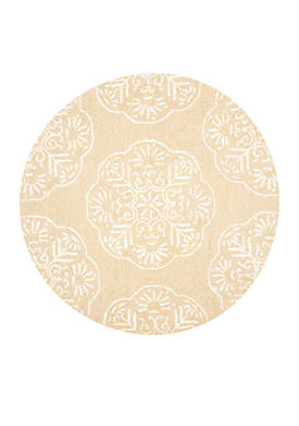 Bella Beige/White Area Rug 5-ft. x 5-ft.