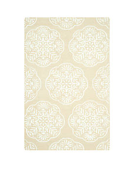 Bella Beige/White Area Rug 5-ft. x 8-ft.