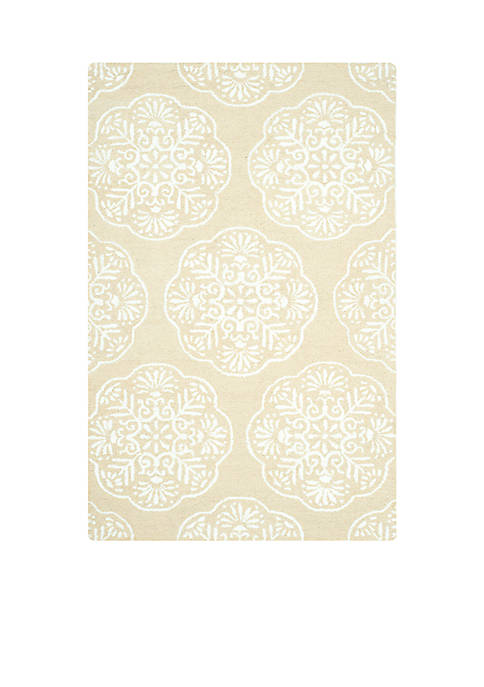 Safavieh Bella Beige/White Area Rug 5-ft. x 8-ft.