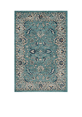 Carmel Turquoise/Beige 4-ft. x 6-ft. Area Rug