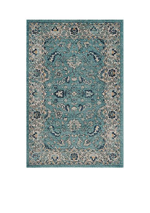 Safavieh Carmel Turquoise/Beige 4-ft. x 6-ft. Area Rug