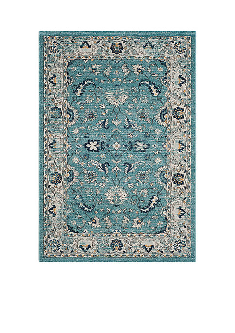 Carmel Turquoise/Beige 5-ft. 1-in. x 7-ft. 6-in. Area Rug