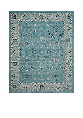Carmel Turquoise/Beige 9-ft. x 12-ft. Area Rug