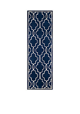 Chatham Dark Blue/Ivory 2-ft. 3-in. x 9-ft. Area Rug