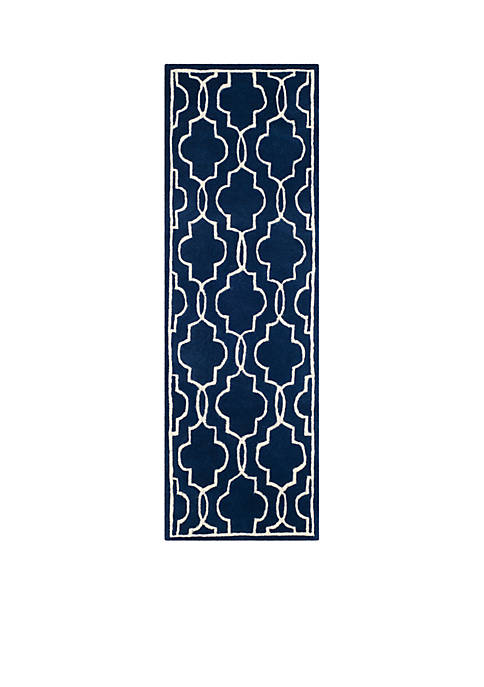 Safavieh Chatham Dark Blue/Ivory 2-ft. 3-in. x 9-ft.