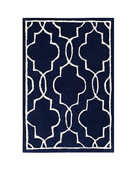Chatham Dark Blue/Ivory 2-ft. x 3-ft. Area Rug
